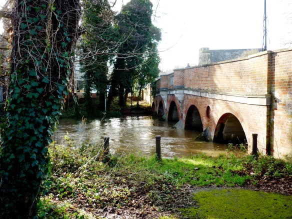 Godalming - River Wey under Bridge Street.JPG
